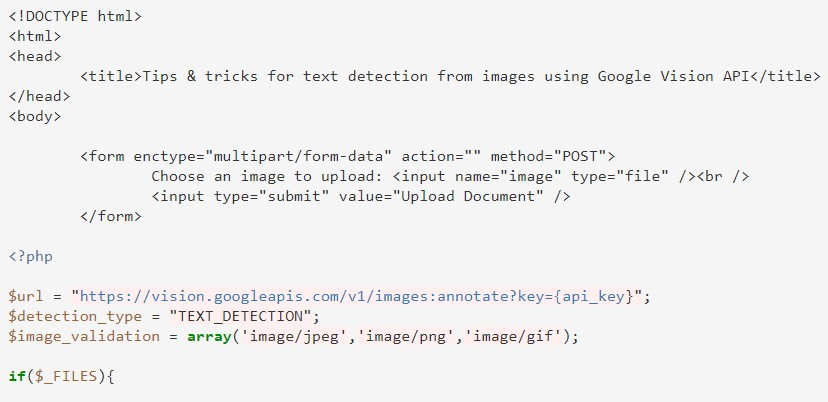 Tips & tricks for text detection from images using Google Vision API in PHP