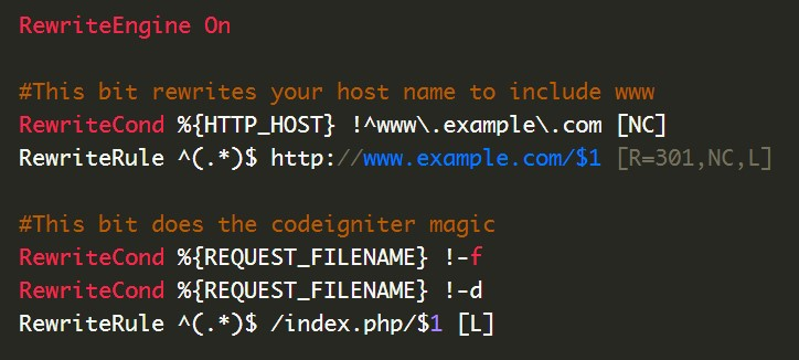 Redirect domain to www on codeigniter ?